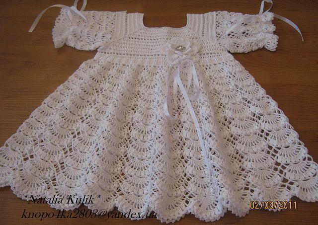 крестильное платье крючком схема