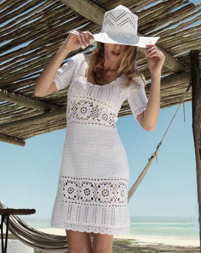 Вязание крючком летнего платья в стиле Victoria's Secret-1
