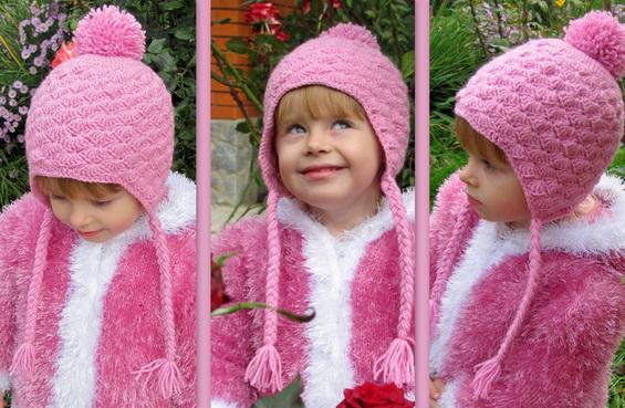 Детская шапочка крючком: простая модель шапочки с ушками