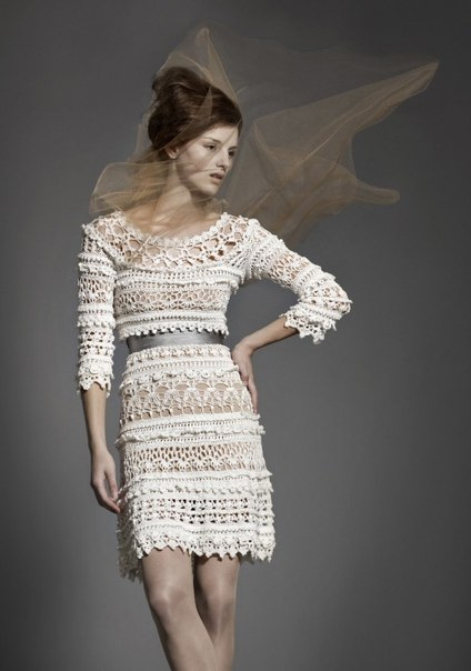 Винтажное платье крючком от Ванессы Монторо