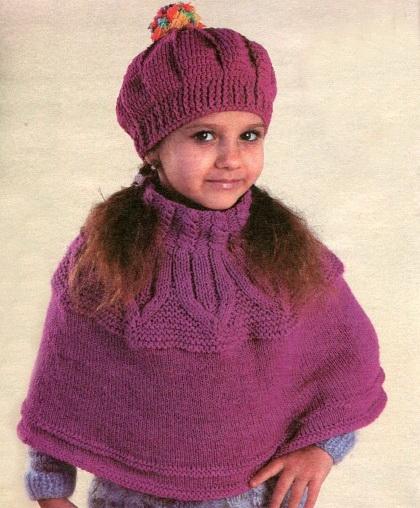 Схема и описание вязания берета для девочки крючком