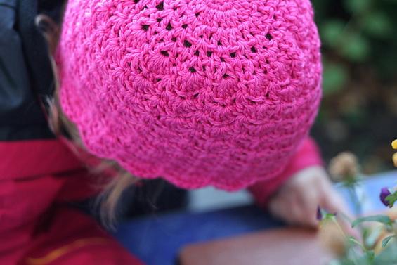 шапочка крючком для девочки схема