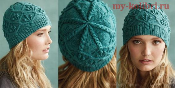 Бесшовная шапка спицами от дизайнера Audrey Knight