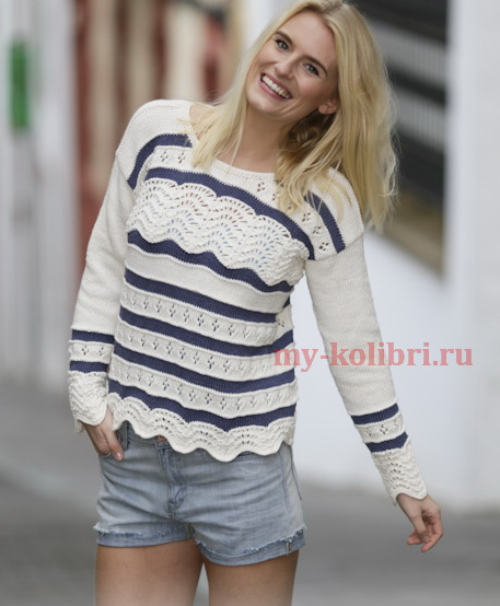 свитера пуловеры кофты спицами и крючком схемы и описания