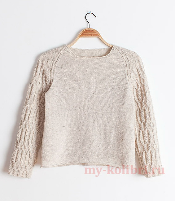 Модный свитер спицами «Hellebore» by Michele Wang