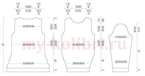 пуловер спицами с тонким рельефным узором  схема