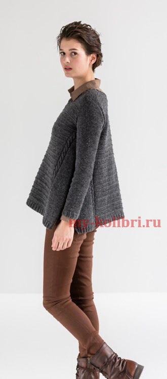 Модный свитер спицами «Arabella»