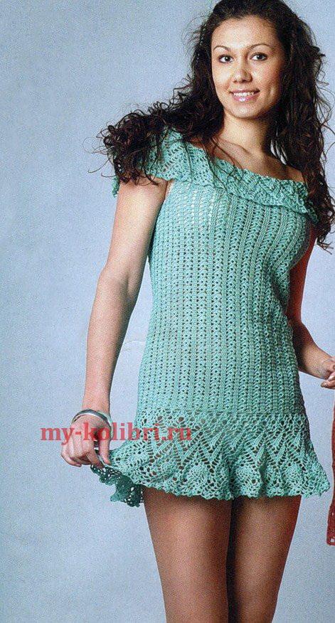 пляжное платье крючком схемы и описание
