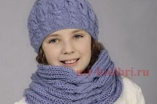 детские шапочки шарфики и варежки спицами или крючком