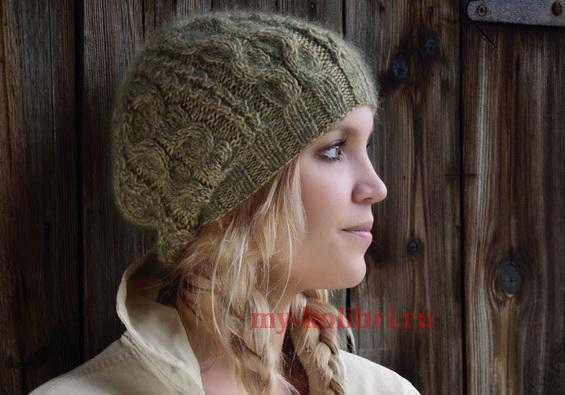 шапка спицами