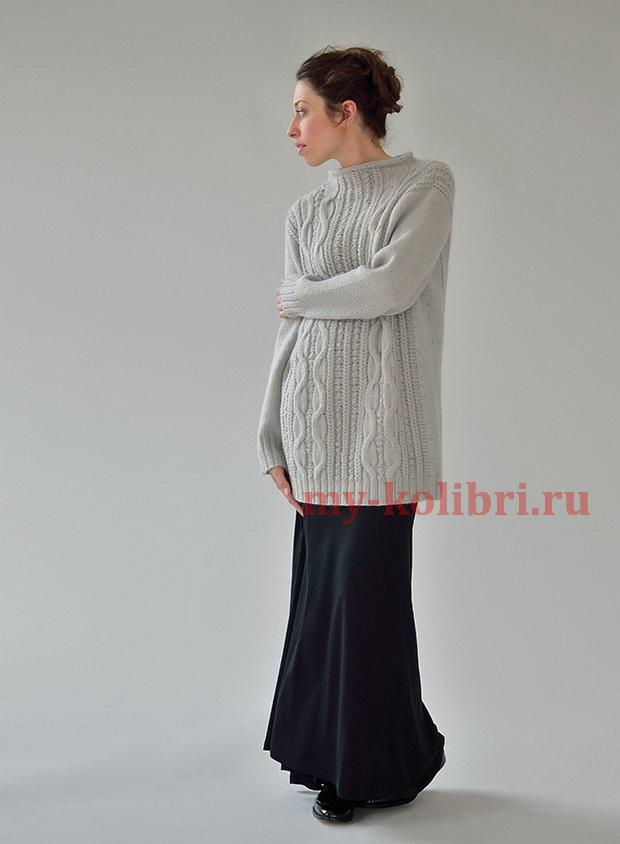 Длинный свитер спицами «Tranquil»_4