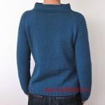 Молодежный свитер спицами платочной вязкой «Space Girl»_2