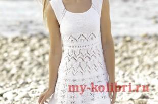 Ажурное платье спицами «MALLORCA»_2