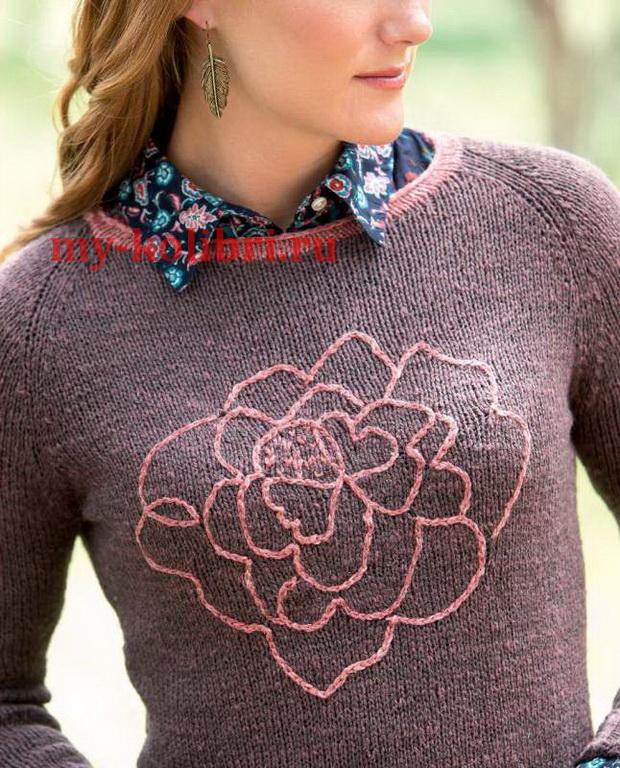 свитер спицами платочной вязкой «Georgia»_6