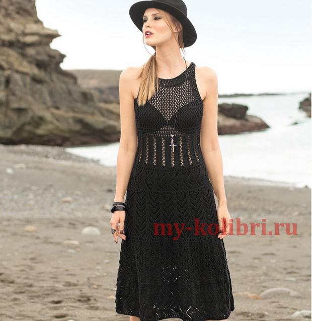 Ажурное платье спицами «Королева юга»_6