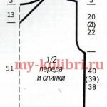 Мужской жилет спицами дорожками из кос_4