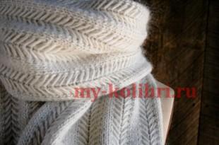 вязаные спицами шарфы 105 моделей со схемами и описанием