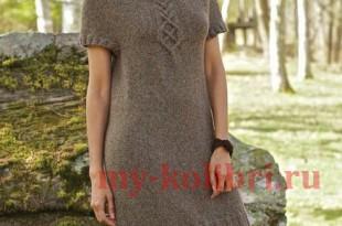Теплое платье спицами «Akin» фото_2