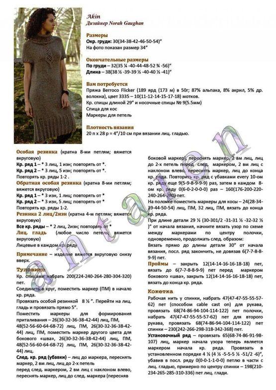 Теплое платье спицами «Akin» фото_3