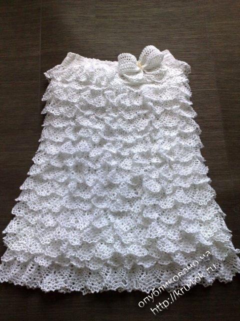 Узоры для вязания крючком платье с воланами
