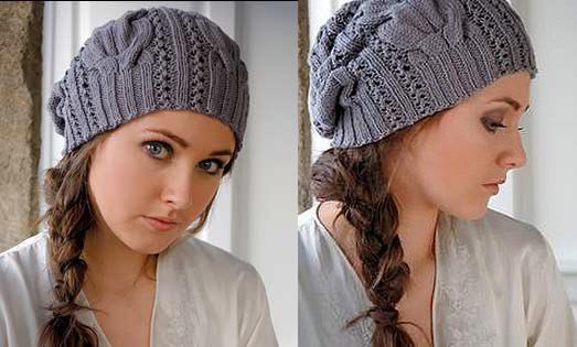 Модная шапка спицами STARR