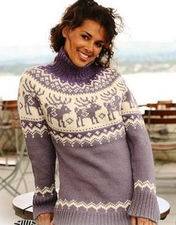 Данную модель свитера можно связать и
