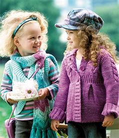 Схема пальто спицами для девочки