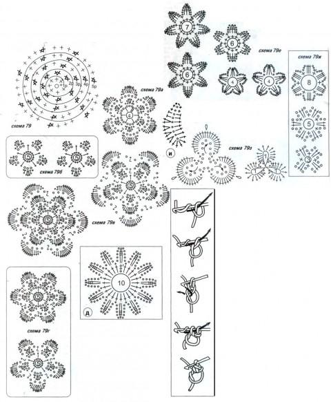 Еще схемы вязания: