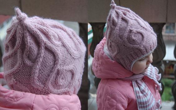 Шапка с ушками для ребенка