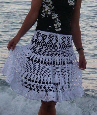 Схема и описание юбки :