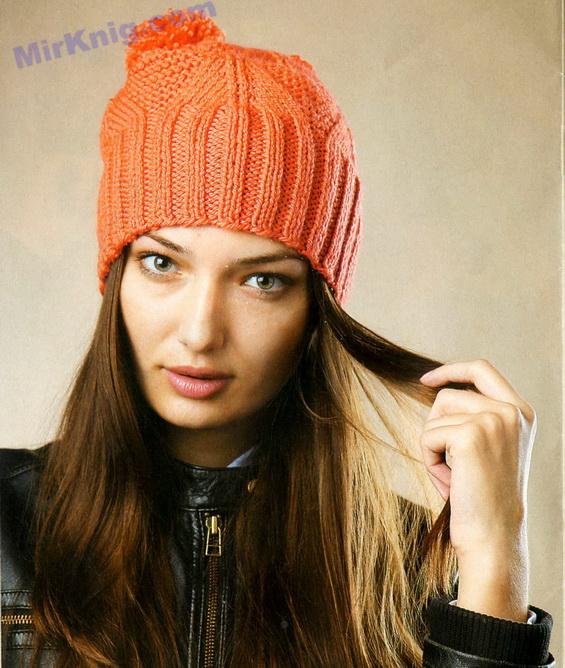 Вязание шапки спицами: модель