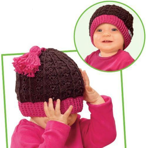 Детская шапка спицами модель шапочки с кисочкой