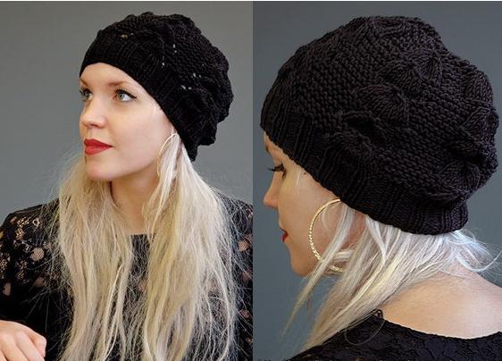 """Модная шапка спицами """"Jole"""" от Kim Hargreaves"""