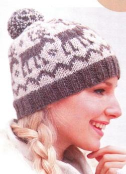Узоры спицами для шапок: вязание по примеру схем 15