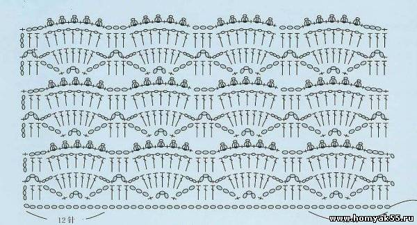 Схема крючком узор веер фото 346