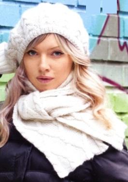 Берет и шарф спицами «Французский шик»