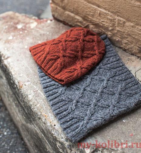 Связать крючком шапку с шарфом 99