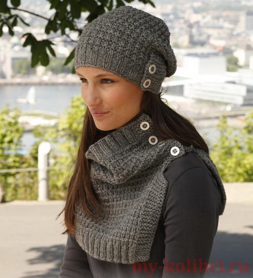 вязание шапок и манишек для женщин