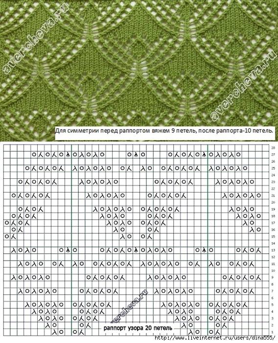 Ажурные узоры вязание спицами схемы и описание 63