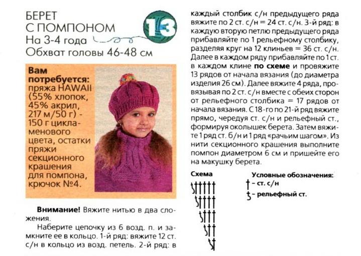 Схема и описание пончо для девочки спицами
