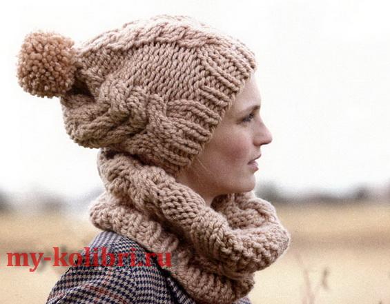 Как вязать шарф=снуд на круговых спицах? = Оч простой