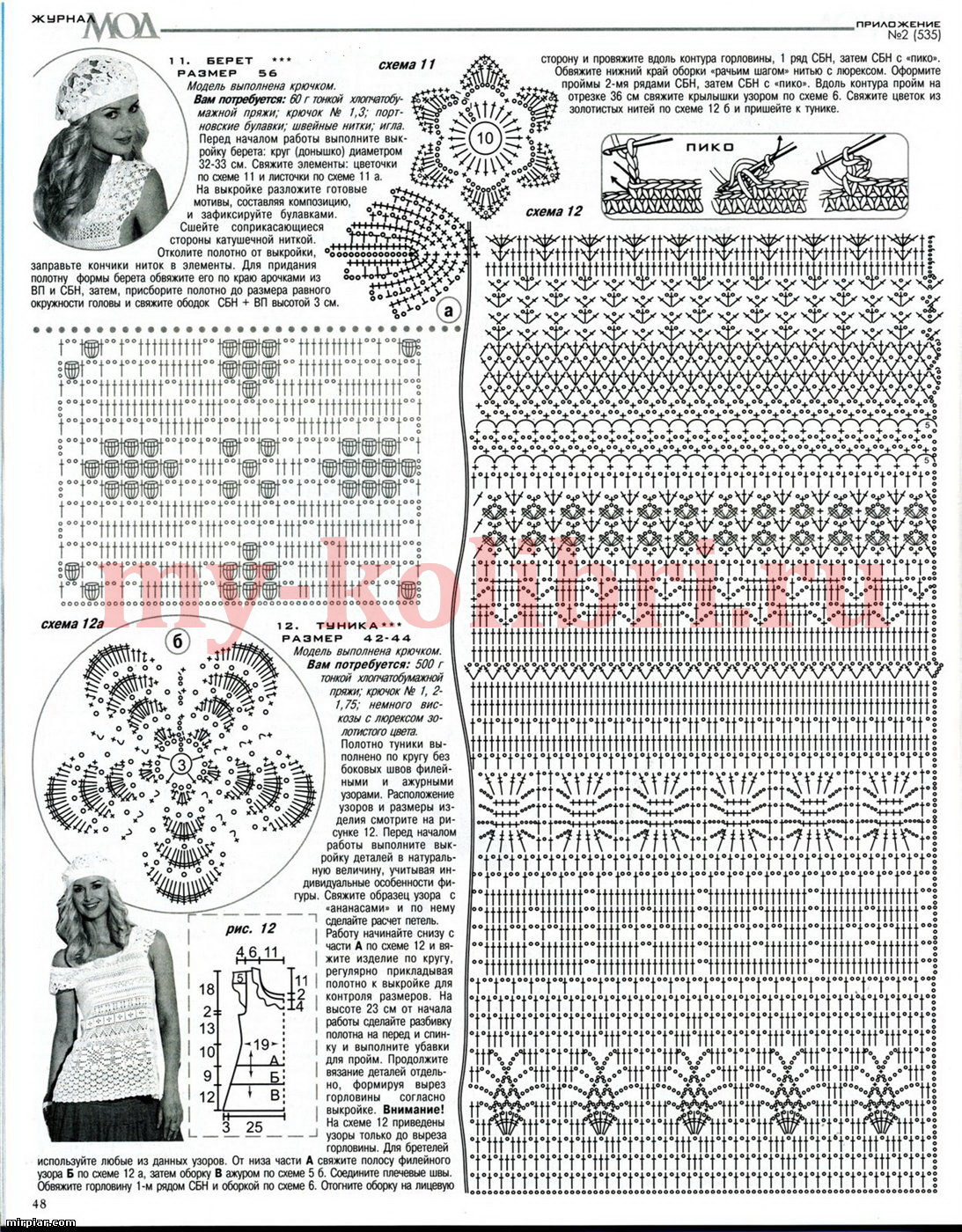 Журналы мод вязание крючком со схемами и описанием