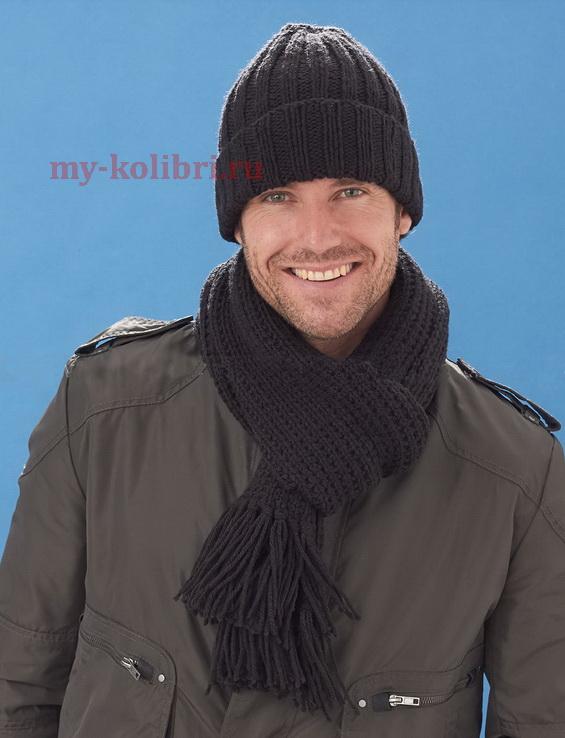 Мужской шарф английской резинкой схема фото 378