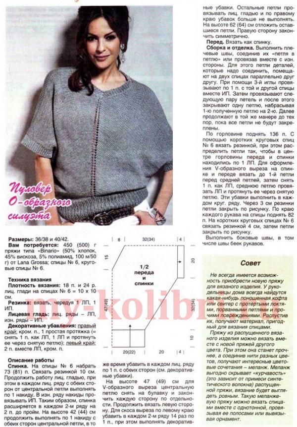 Стильное вязание для женщин спицами с описанием 38