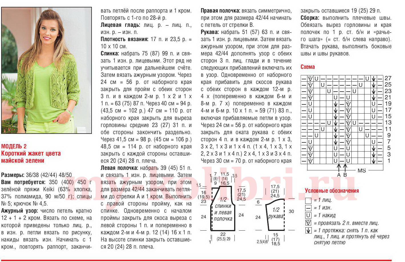 Вязаные кофточки для женщин. Схемы и описания вязания спицами 1