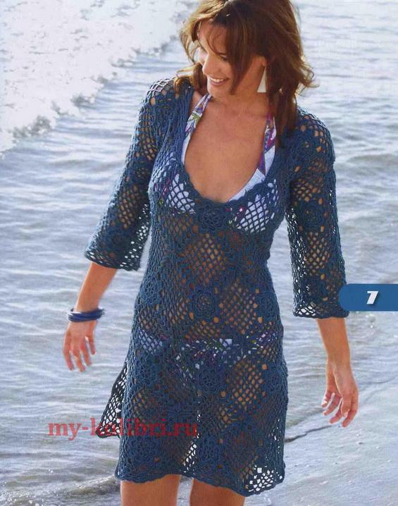 Туника сетка для пляжа