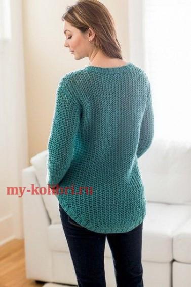 Молодежный свитер спицами схема фото 875