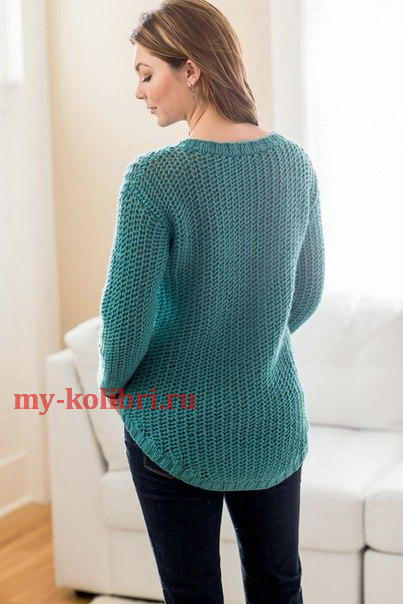 Молодежный вязаный пуловер