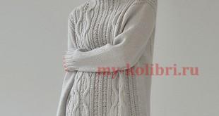 Длинный свитер спицами «Tranquil»_6
