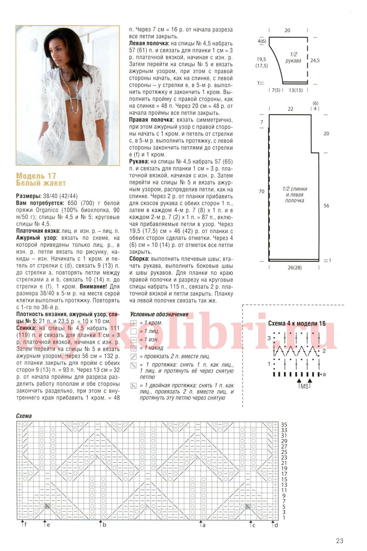 Ажурные кофты для вязания спицами с описанием и схемами